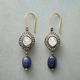 SAPPHIRE GENEVA DIAMOND EARRINGS