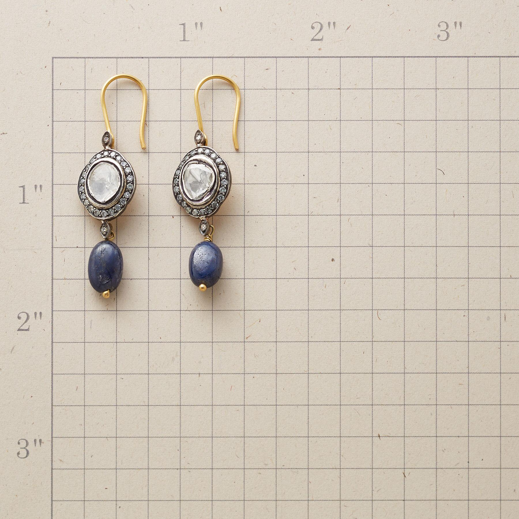 SAPPHIRE GENEVA DIAMOND EARRINGS: View 2