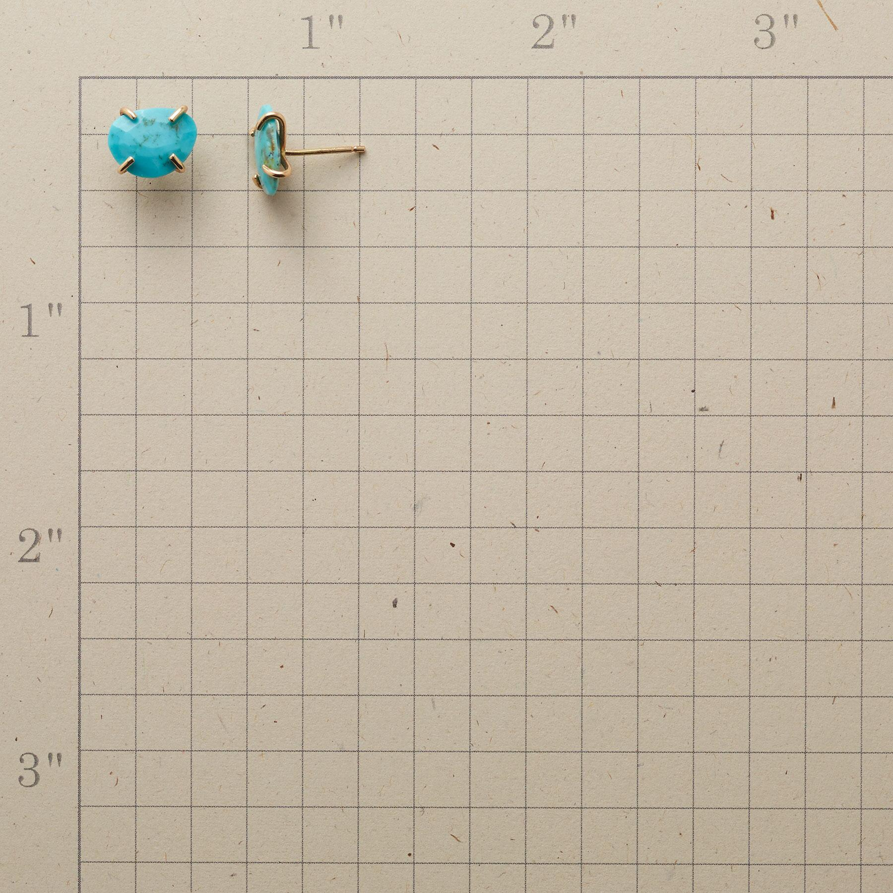 TURQUOISE NUGGET EARRINGS: View 2