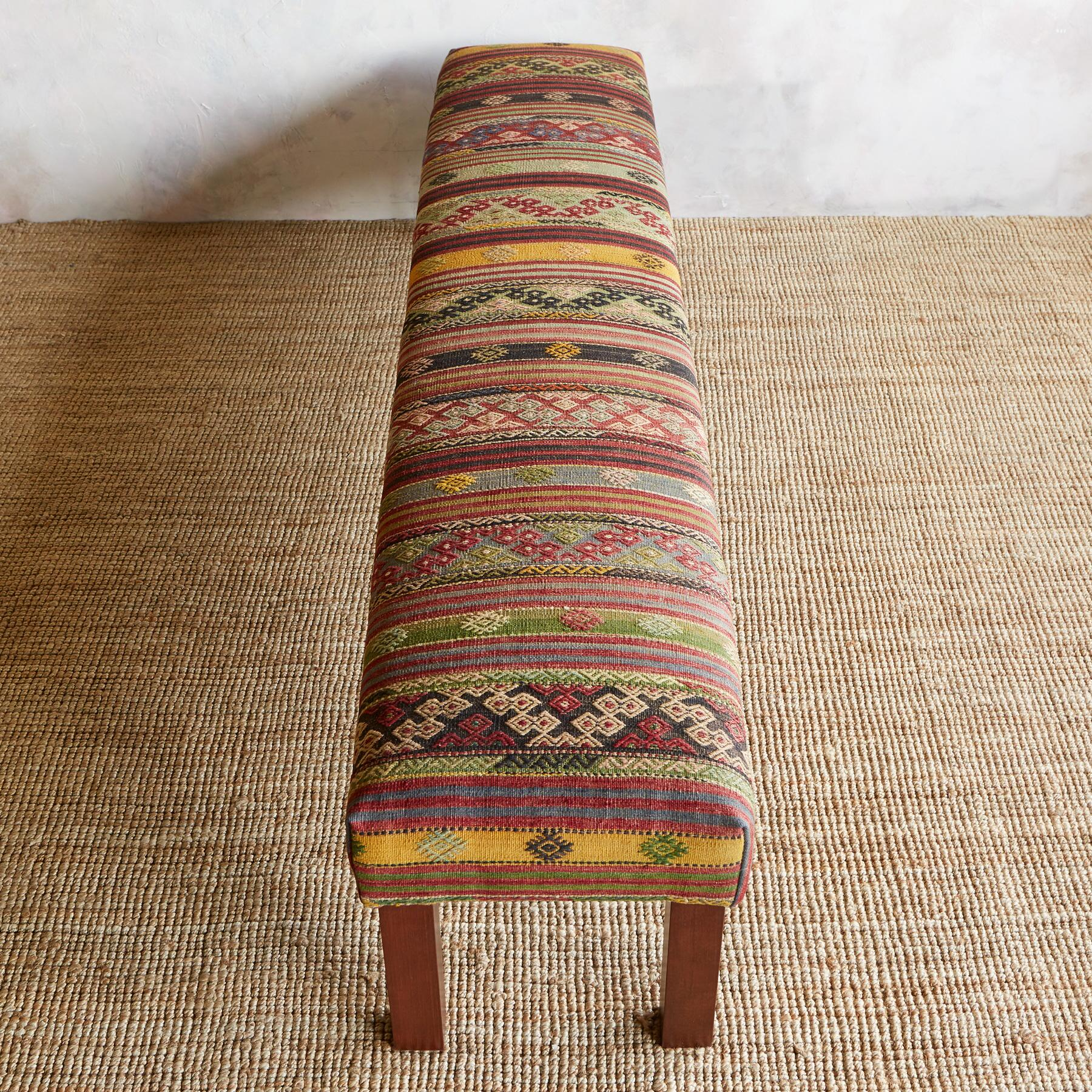 NIZIP TURKISH KILIM BENCH: View 2