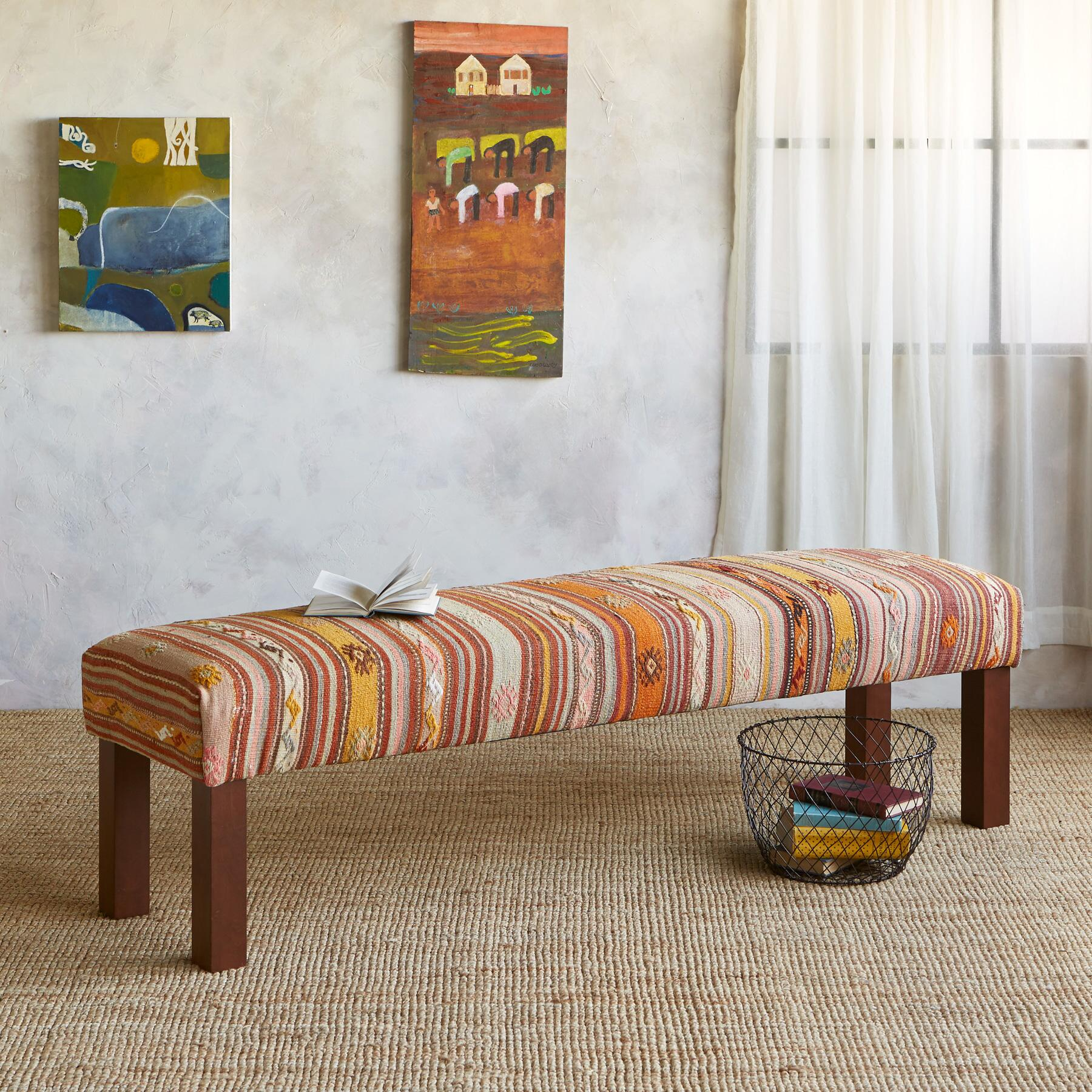 ARAS TURKISH KILIM BENCH: View 1