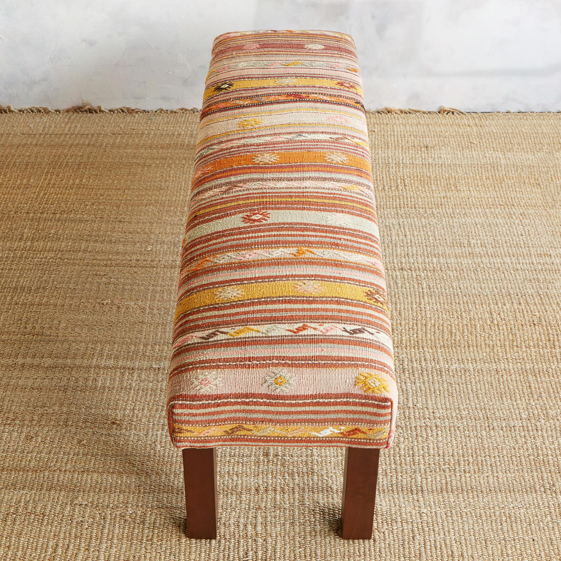 ARAS TURKISH KILIM BENCH: View 2