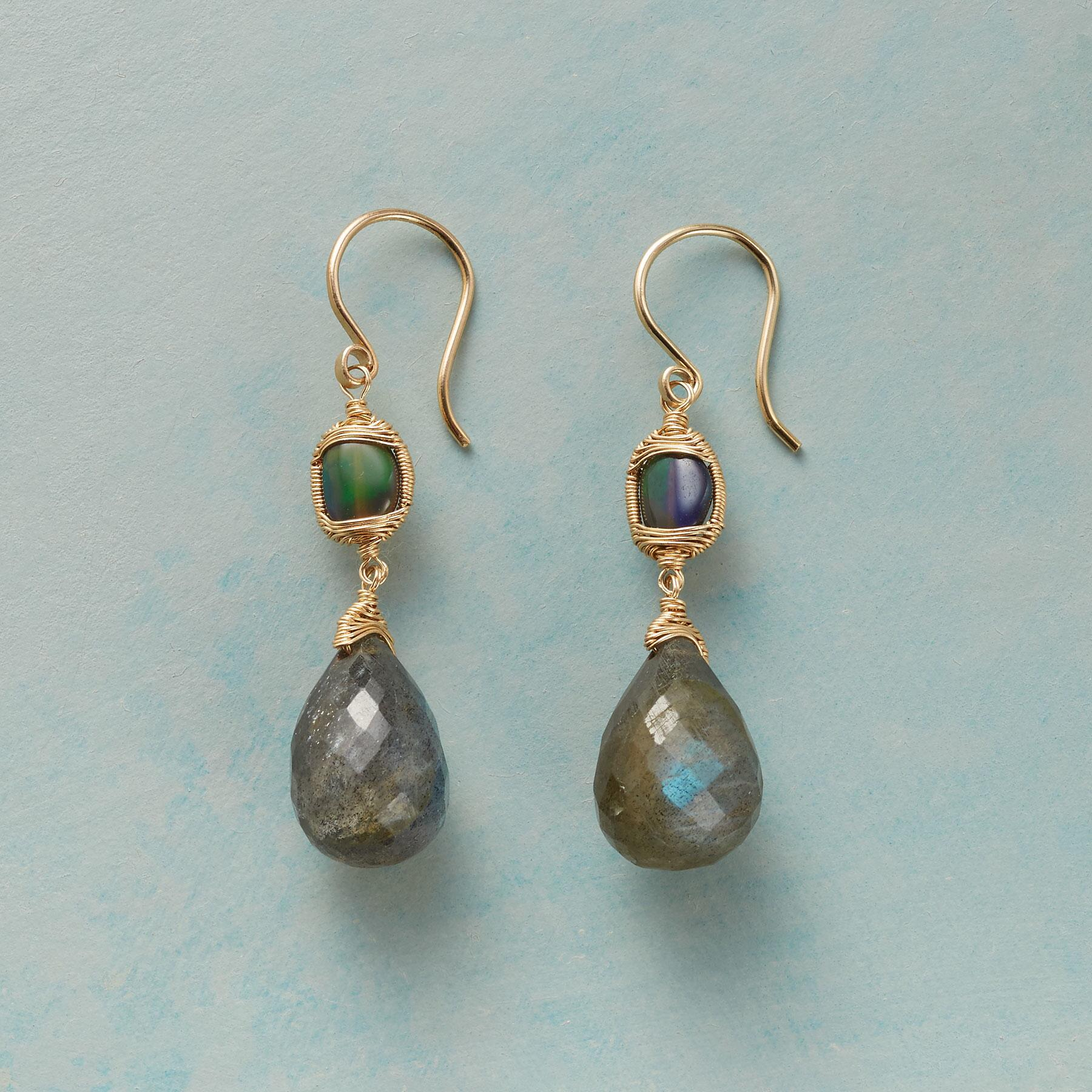 EYE OF THE STORM labradorite EARRINGS: View 1