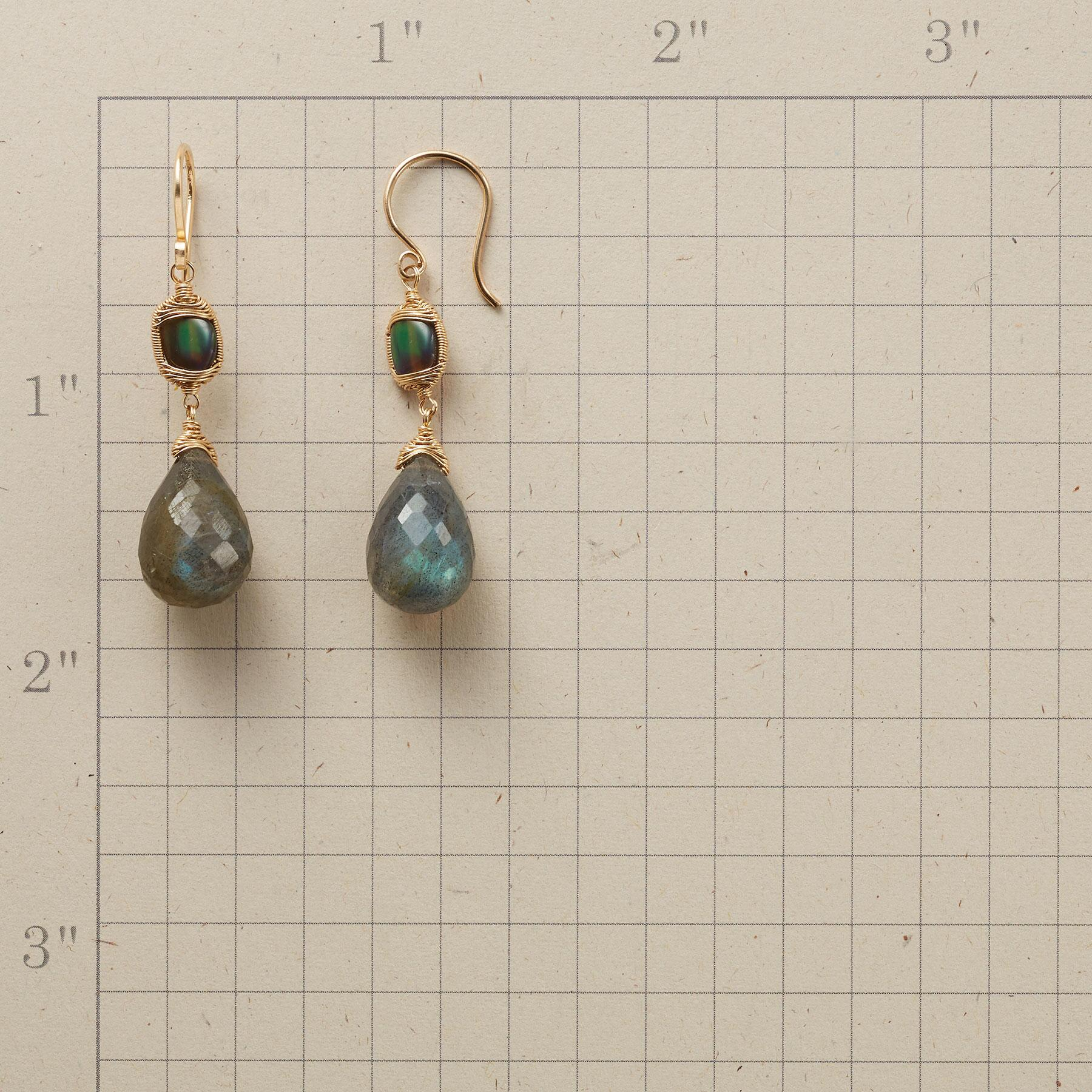 EYE OF THE STORM labradorite EARRINGS: View 2