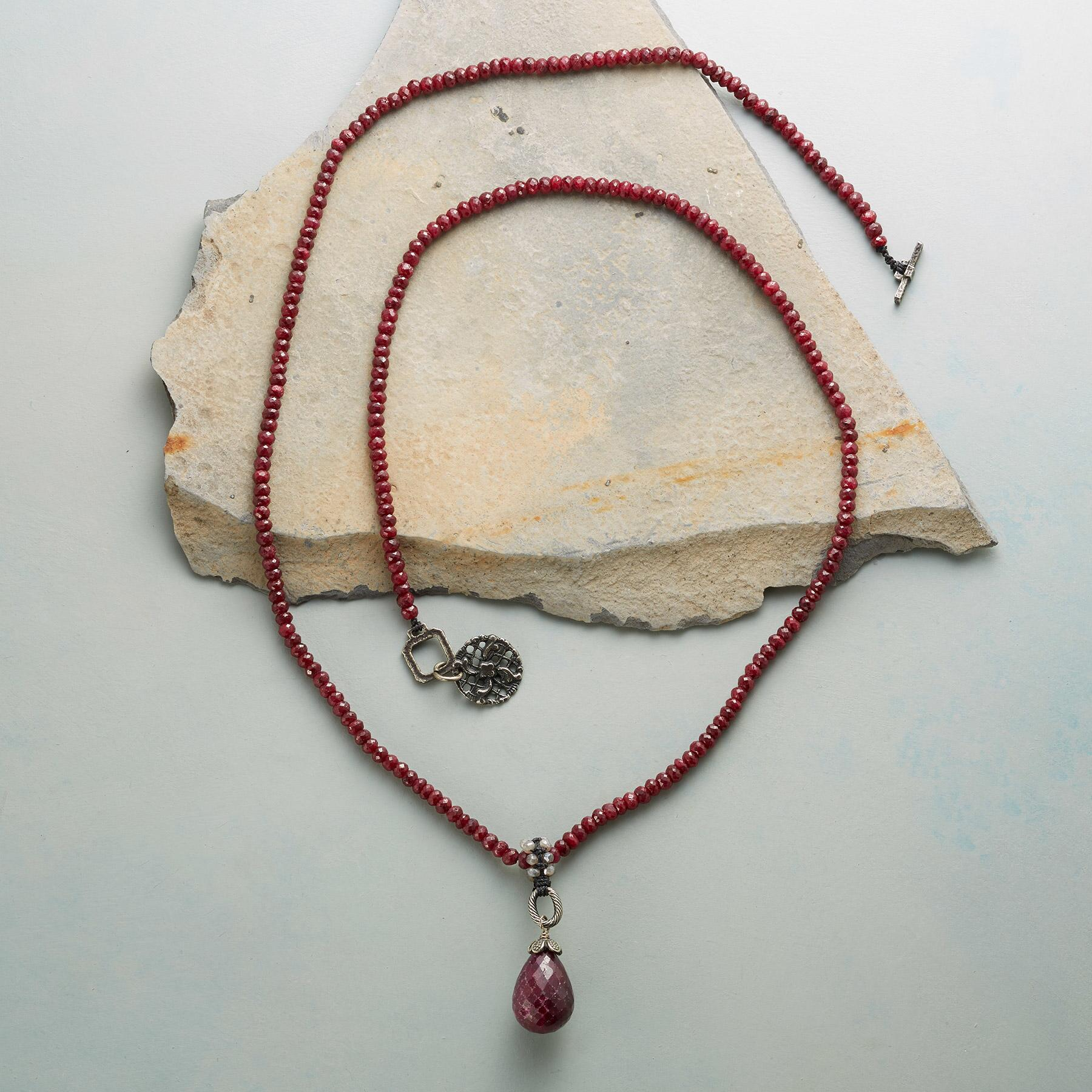 SCARLET RUBY NECKLACE: View 2