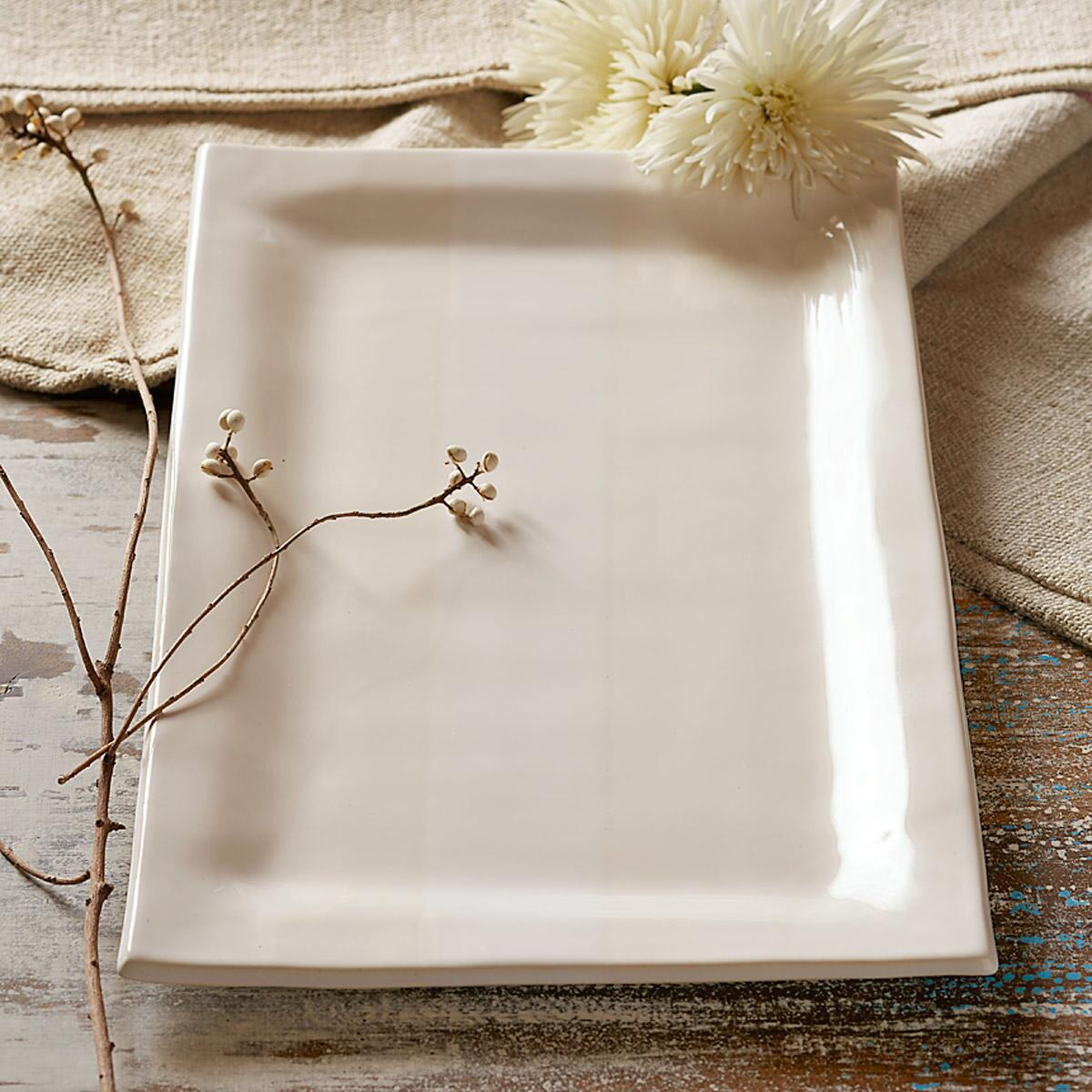 ALEX MARSHALL ORGANIC RECTANGLE SERVING PLATTER: View 1