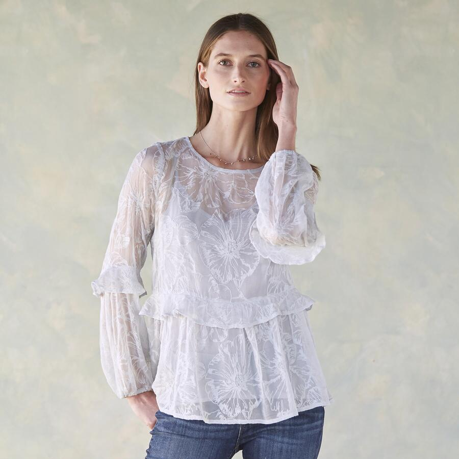 LACE TRACERY BLOUSE