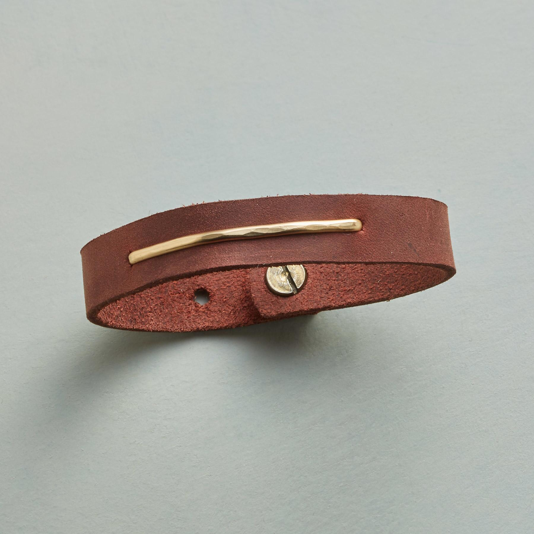GOLDEN PATH LEATHER BRACELET: View 1