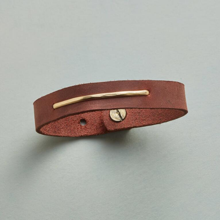 GOLDEN PATH LEATHER BRACELET