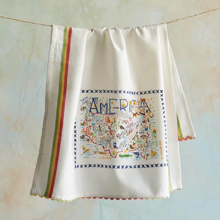 SOUVENIR AMERICA TEA TOWEL