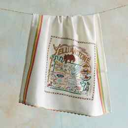 SOUVENIR NATIONAL PARKS TEA TOWEL