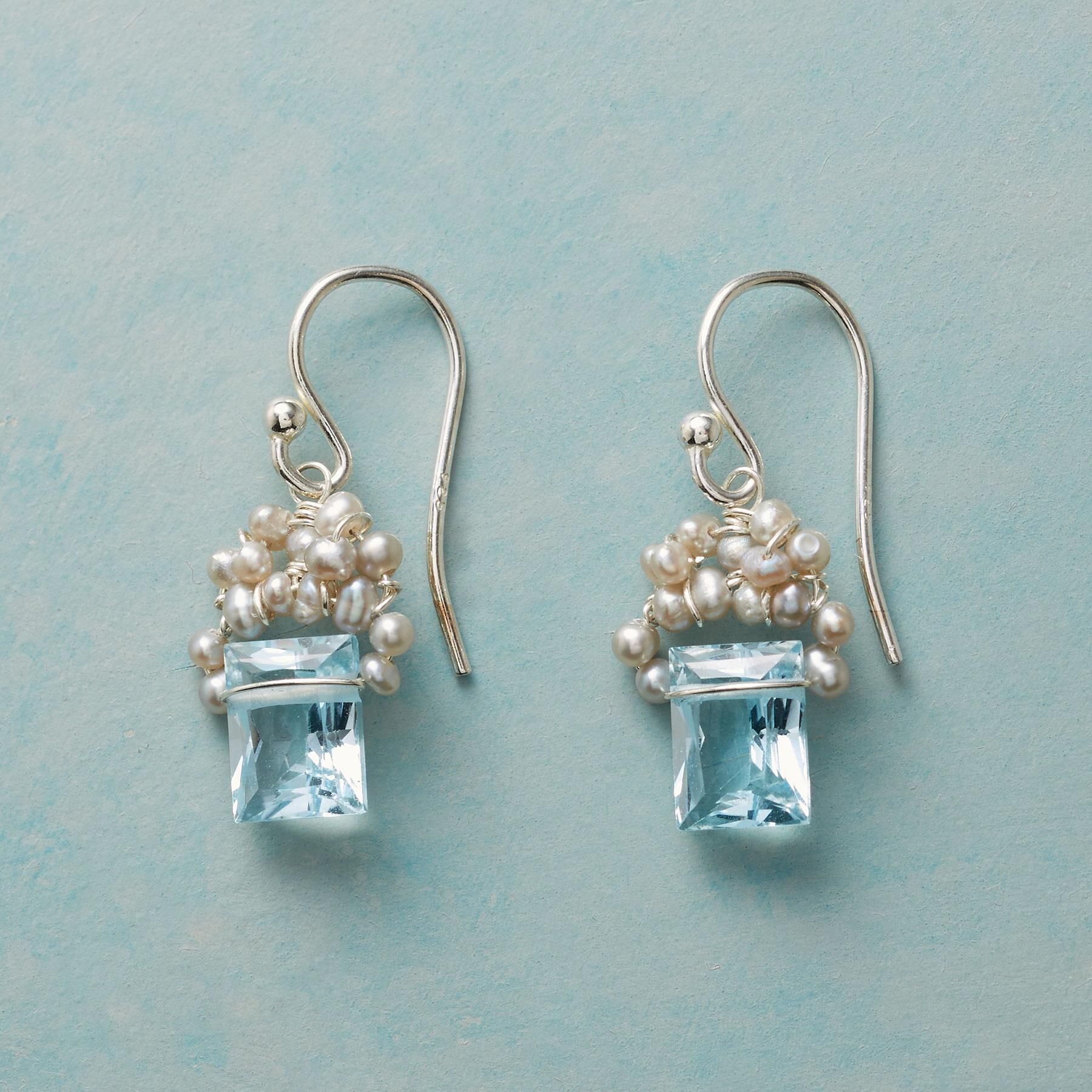 FROSTED BLUE TOPAZ EARRINGS: View 1