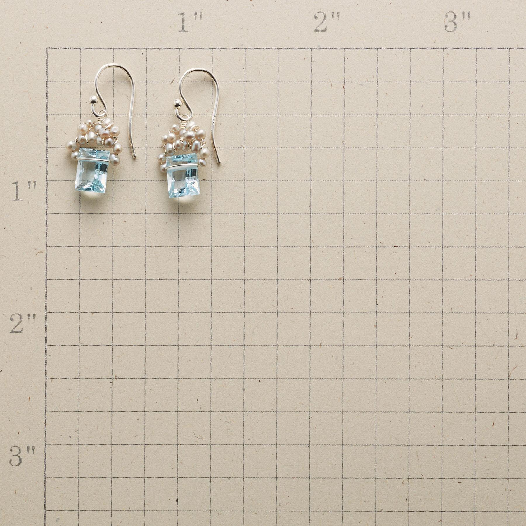 FROSTED BLUE TOPAZ EARRINGS: View 2
