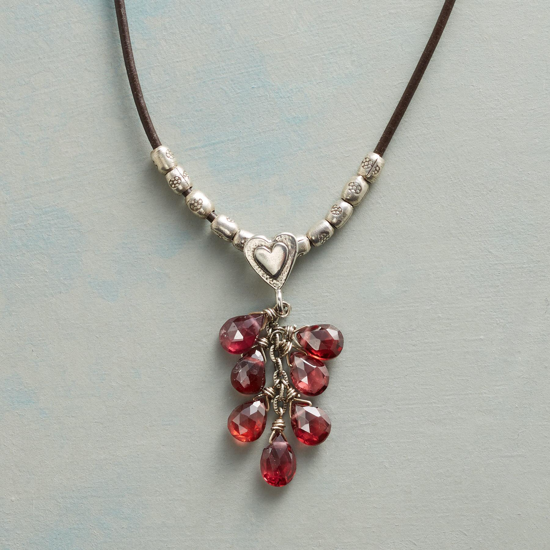 LOVING GARNETS NECKLACE: View 1