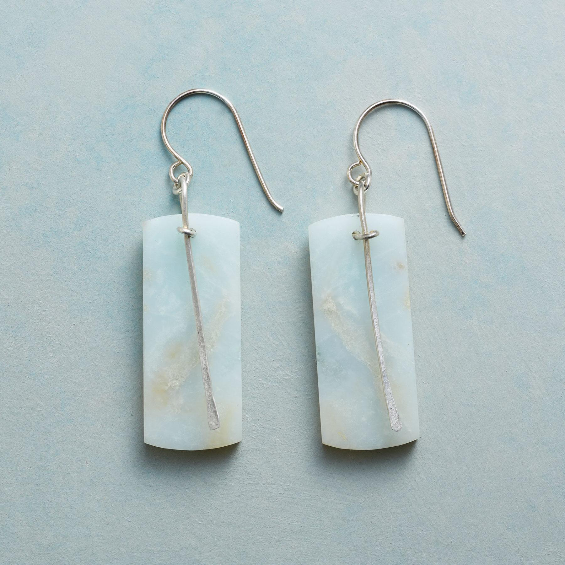 AMAZONITE PENDULUM EARRINGS: View 1