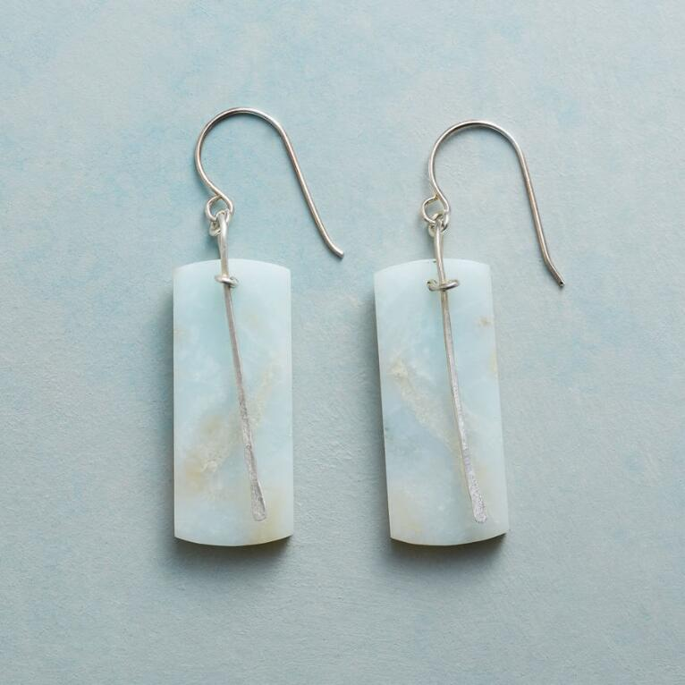 AMAZONITE PENDULUM EARRINGS