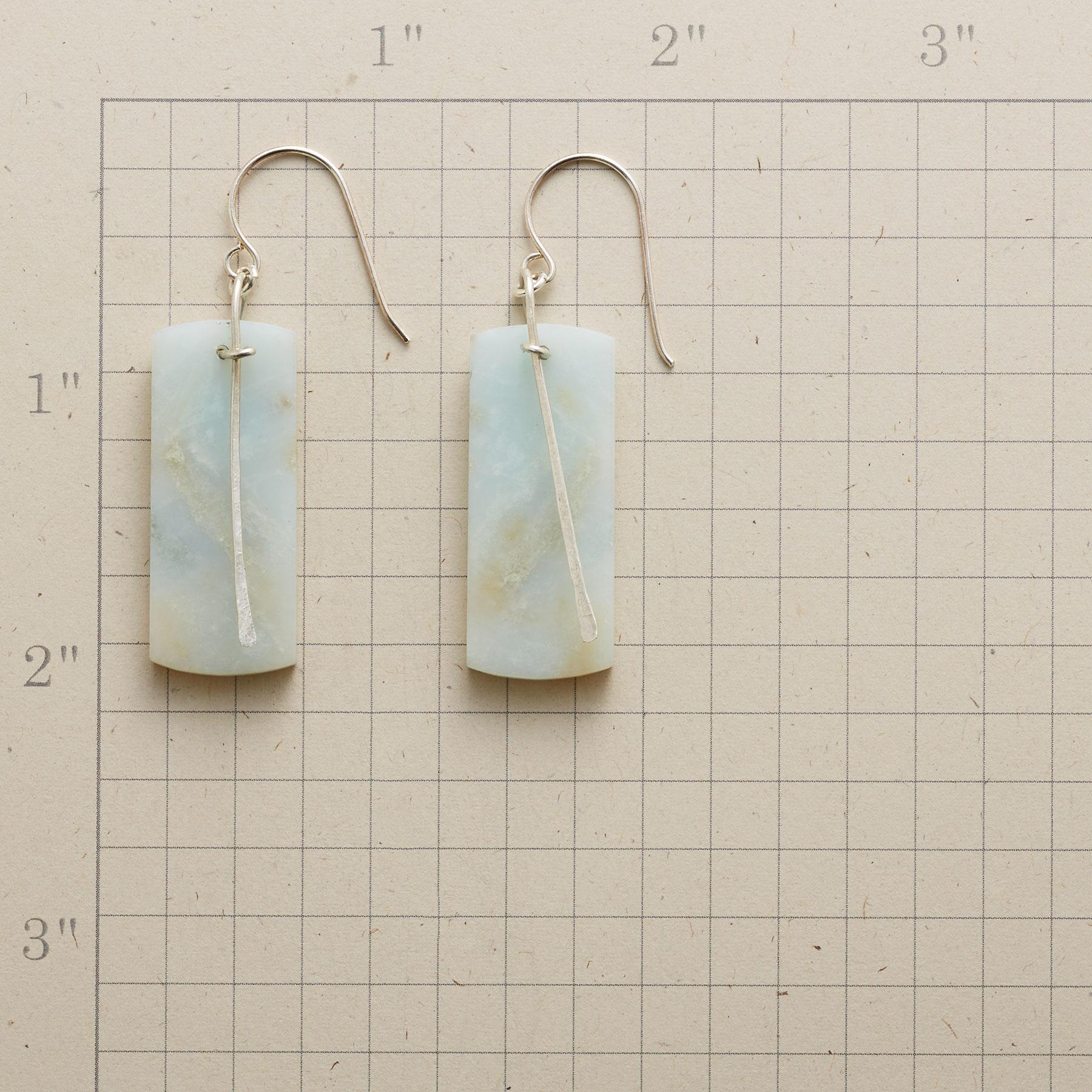 AMAZONITE PENDULUM EARRINGS: View 2