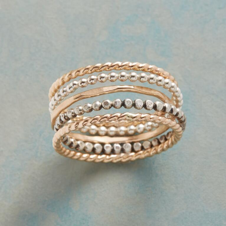 SCATTER OR STACK RINGS, SET OF 5