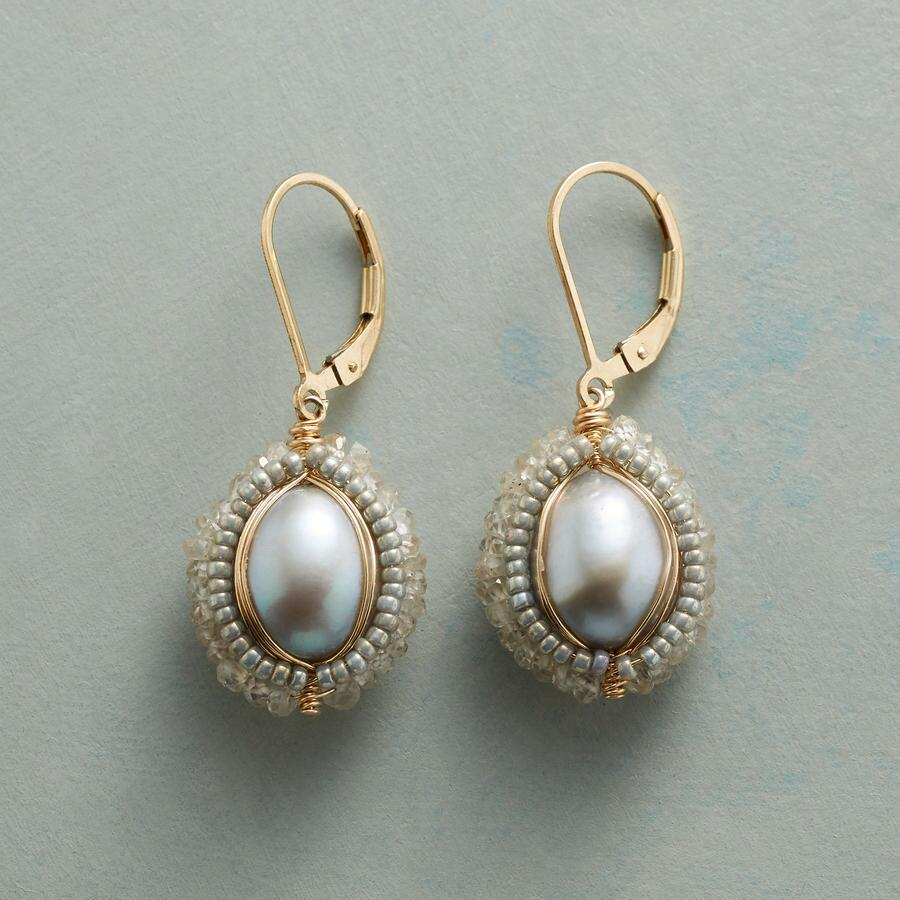 WHITE LIGHTNING EARRINGS