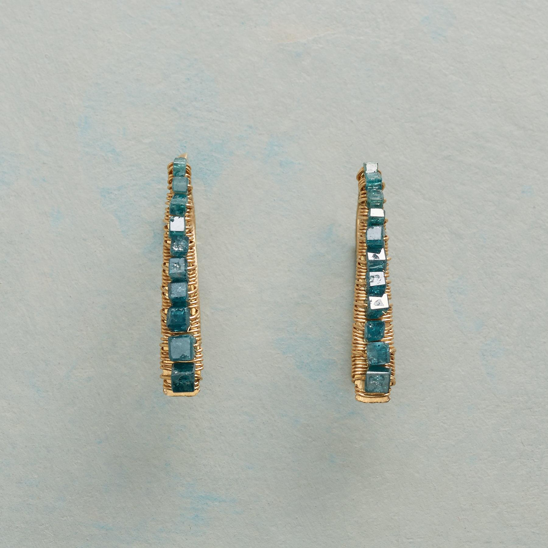 WITH A DIFFERENCE DIAMOND EARRINGS: View 1