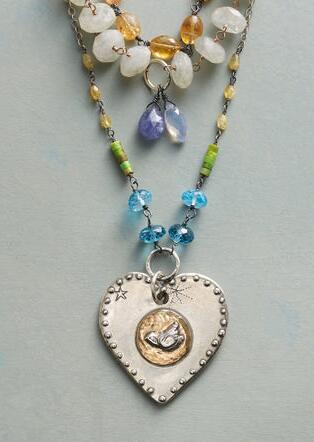 HEART OF PEACE NECKLACE