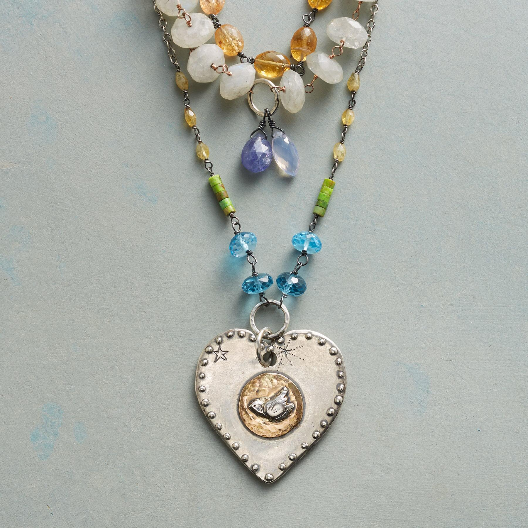HEART OF PEACE NECKLACE: View 1