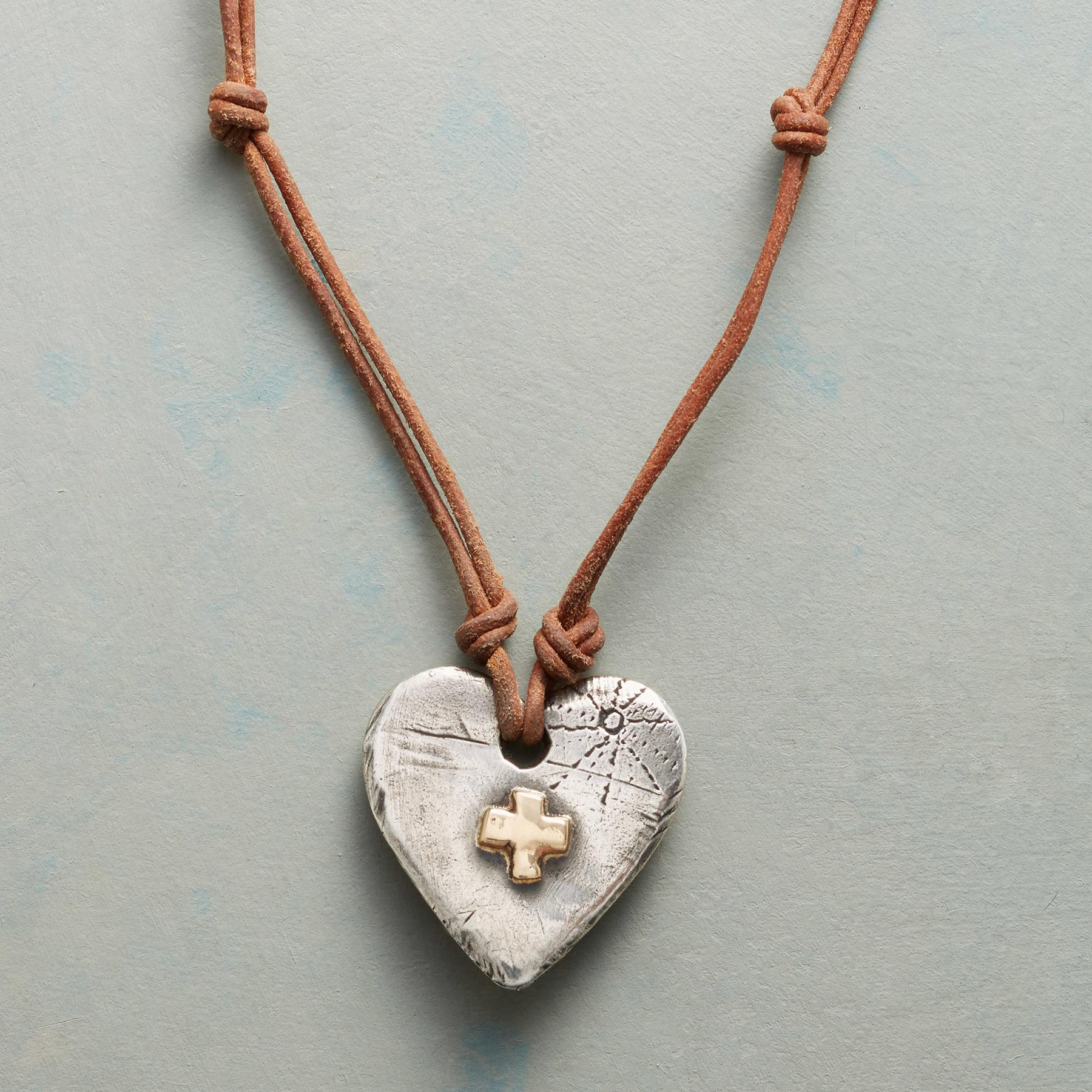 SQUARE CROSS NECKLACE: View 1