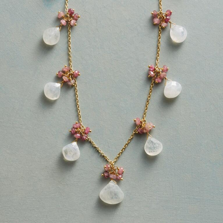 BLUSHING MOONSTONE NECKLACE