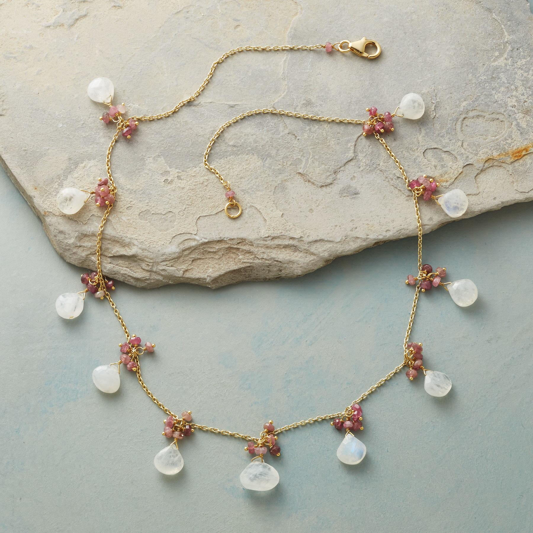 BLUSHING MOONSTONE NECKLACE: View 2