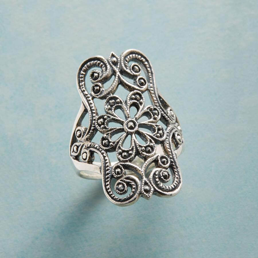 SHIELD OF SWIRLS RING
