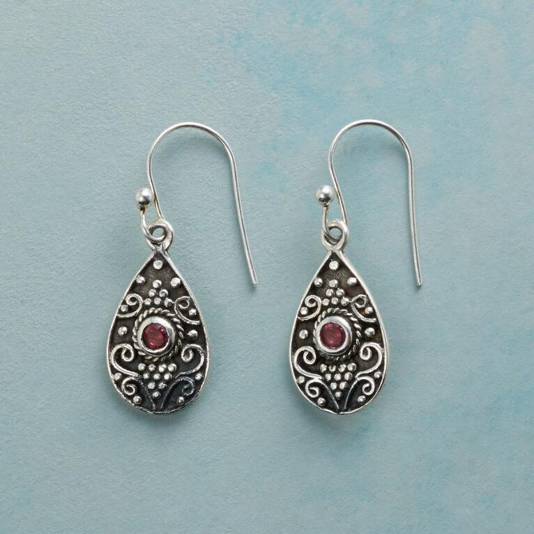 EYE OF THE RUBY EARRINGS