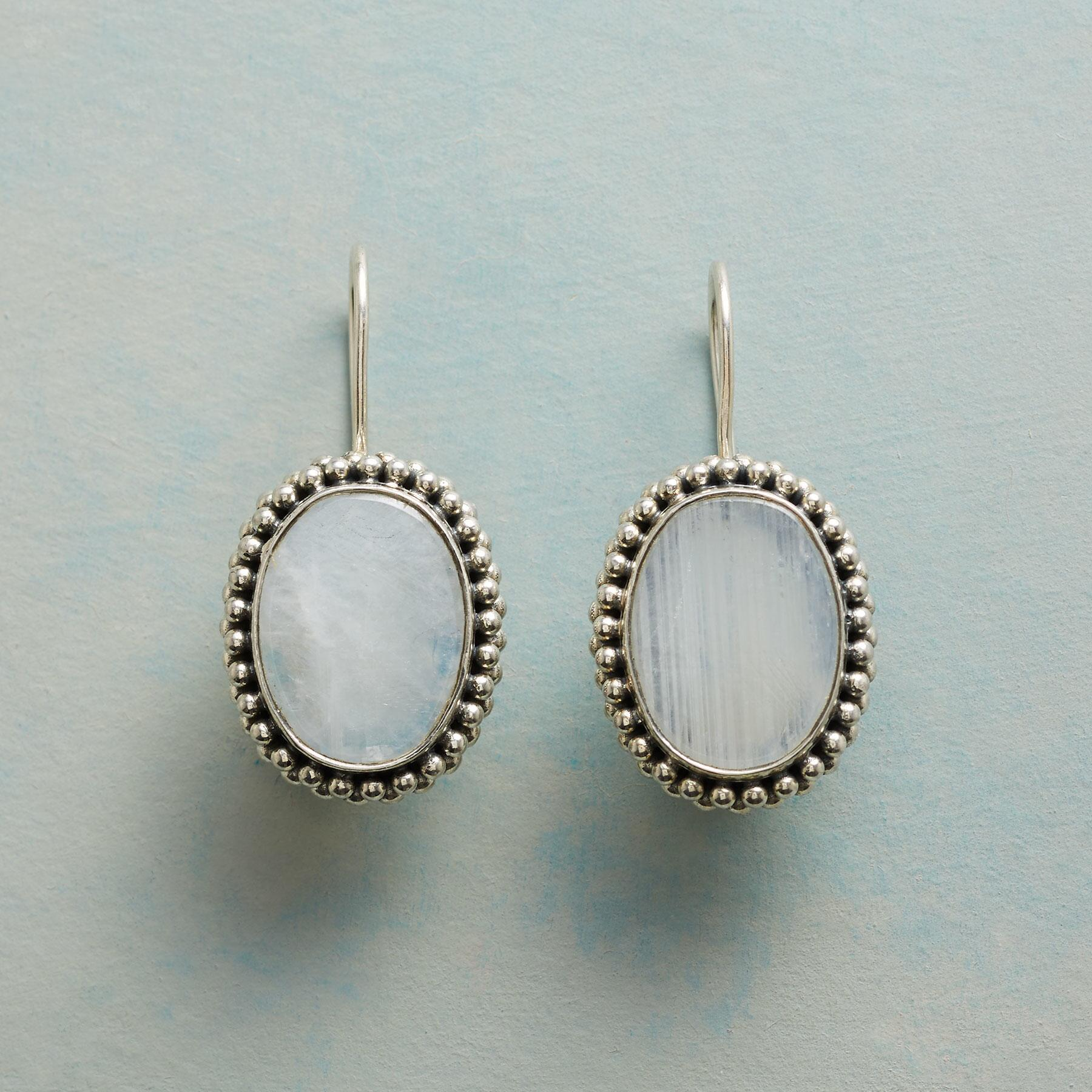 MOONSTONE MADONNA EARRINGS: View 1