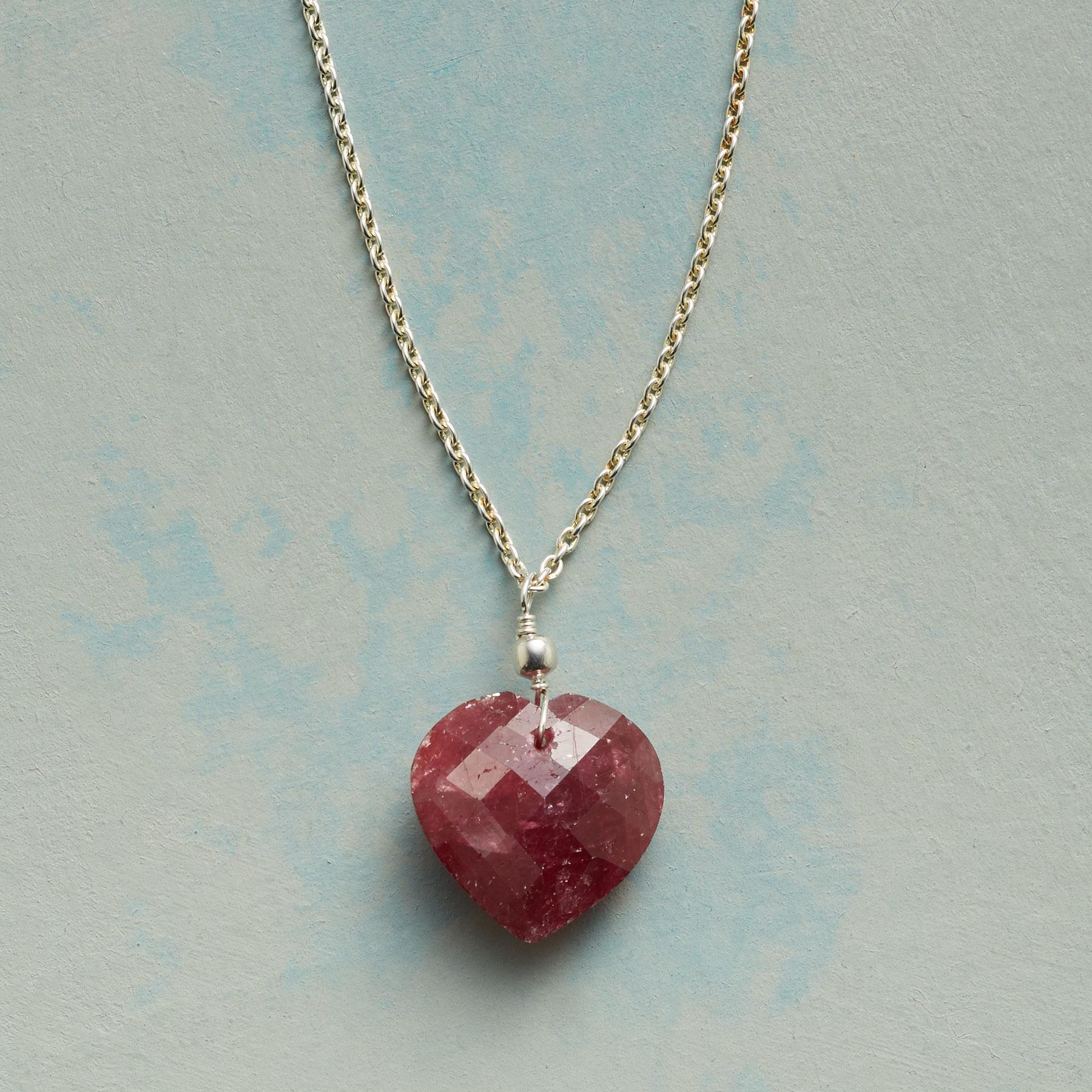 FULL HEART RUBY NECKLACE: View 1