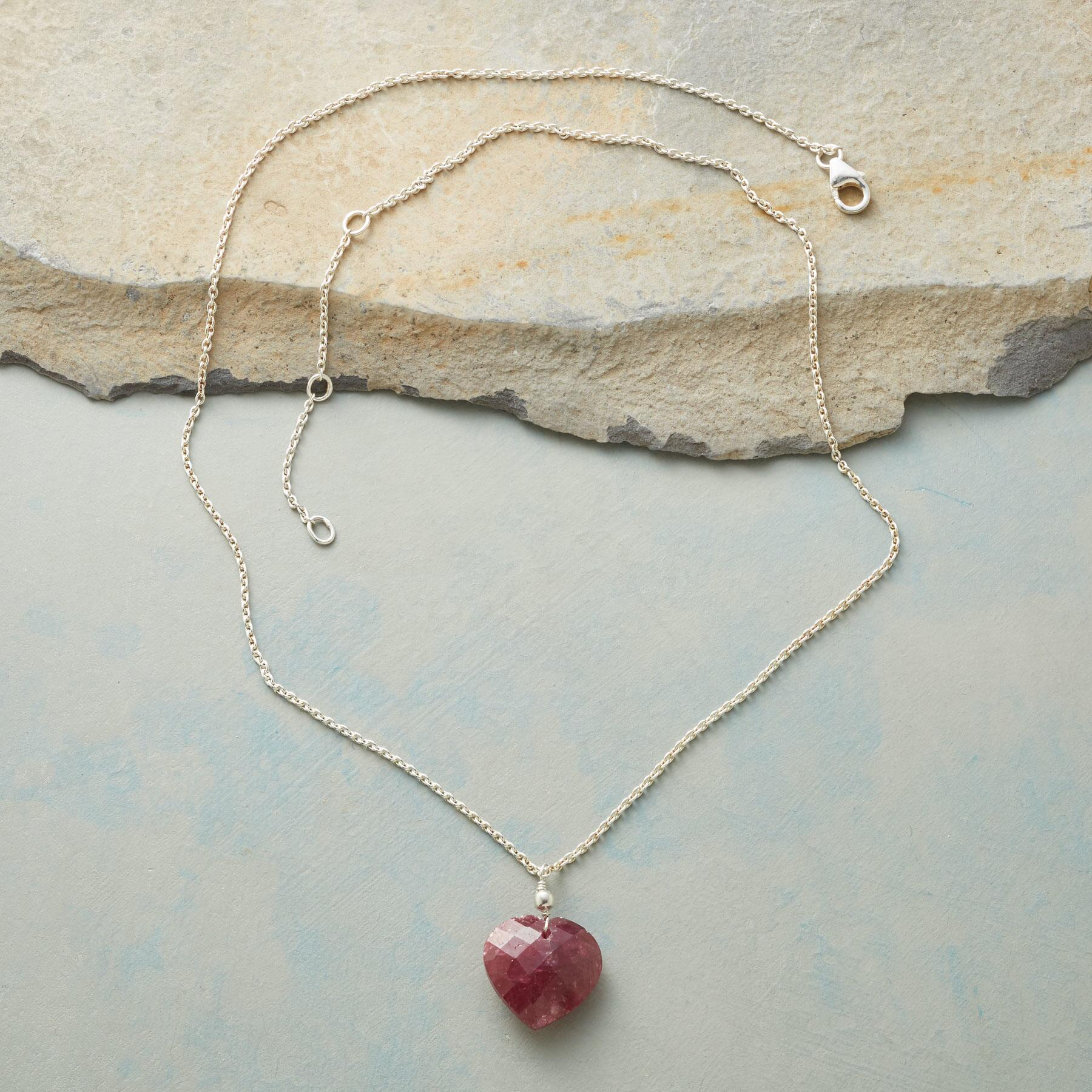 FULL HEART RUBY NECKLACE: View 2