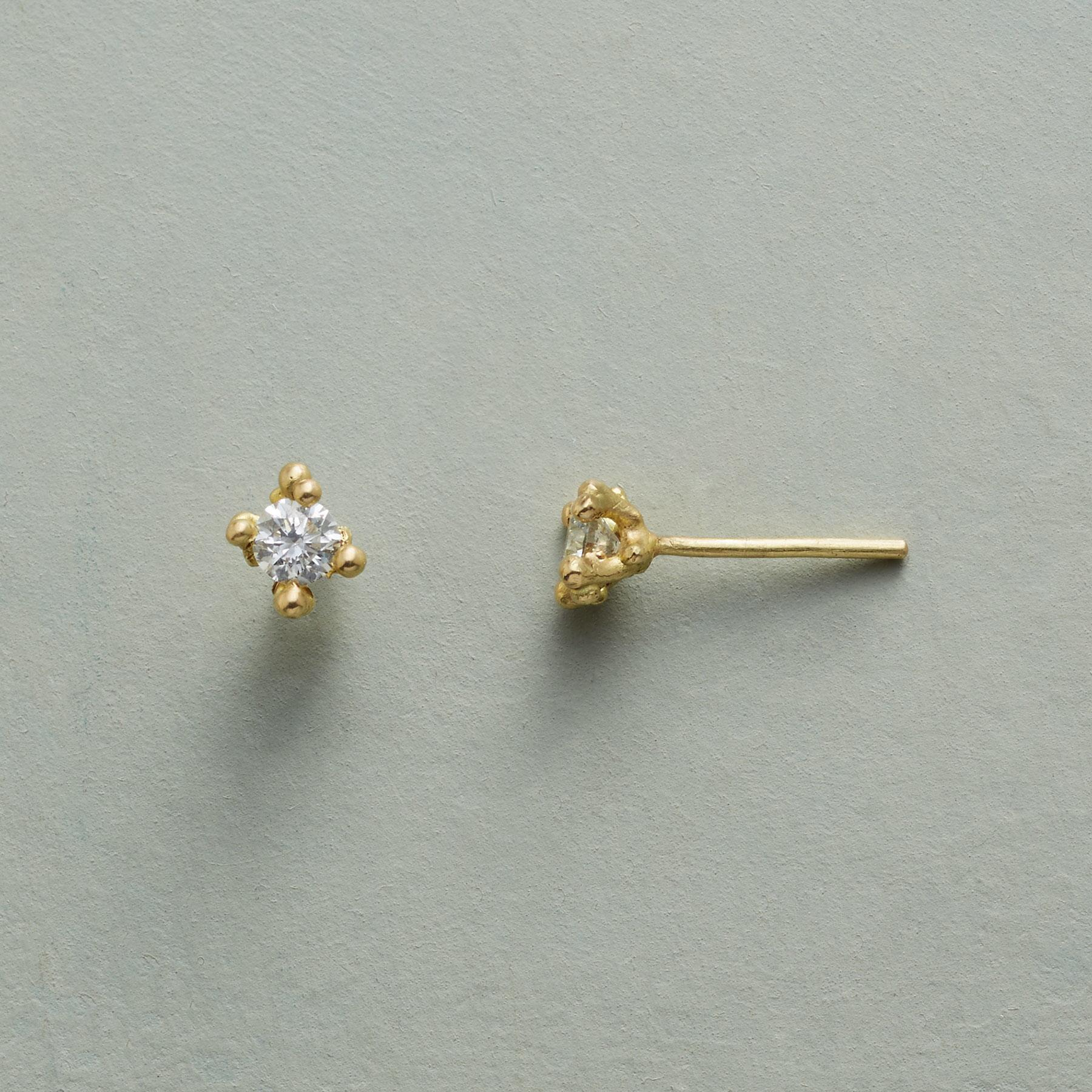 BUBBLY DIAMOND EARRINGS: View 1
