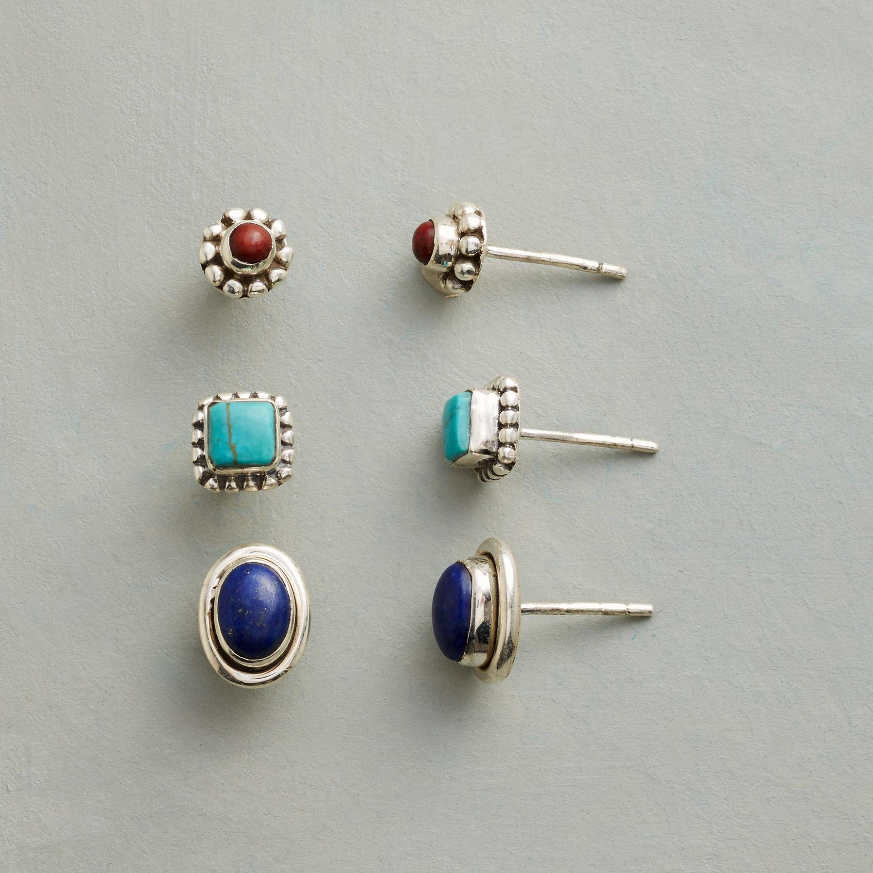 PRIMARY POSTS EARRING TRIO: View 1