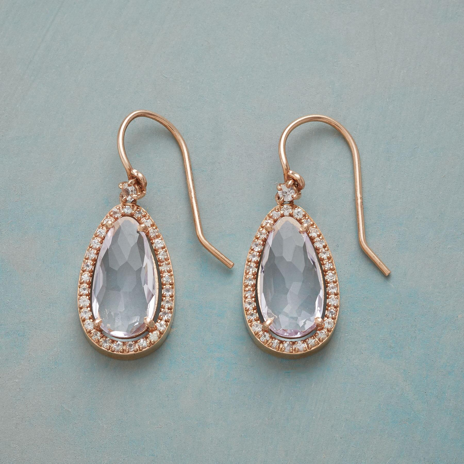 CLEAR RADIANCE EARRINGS: View 1