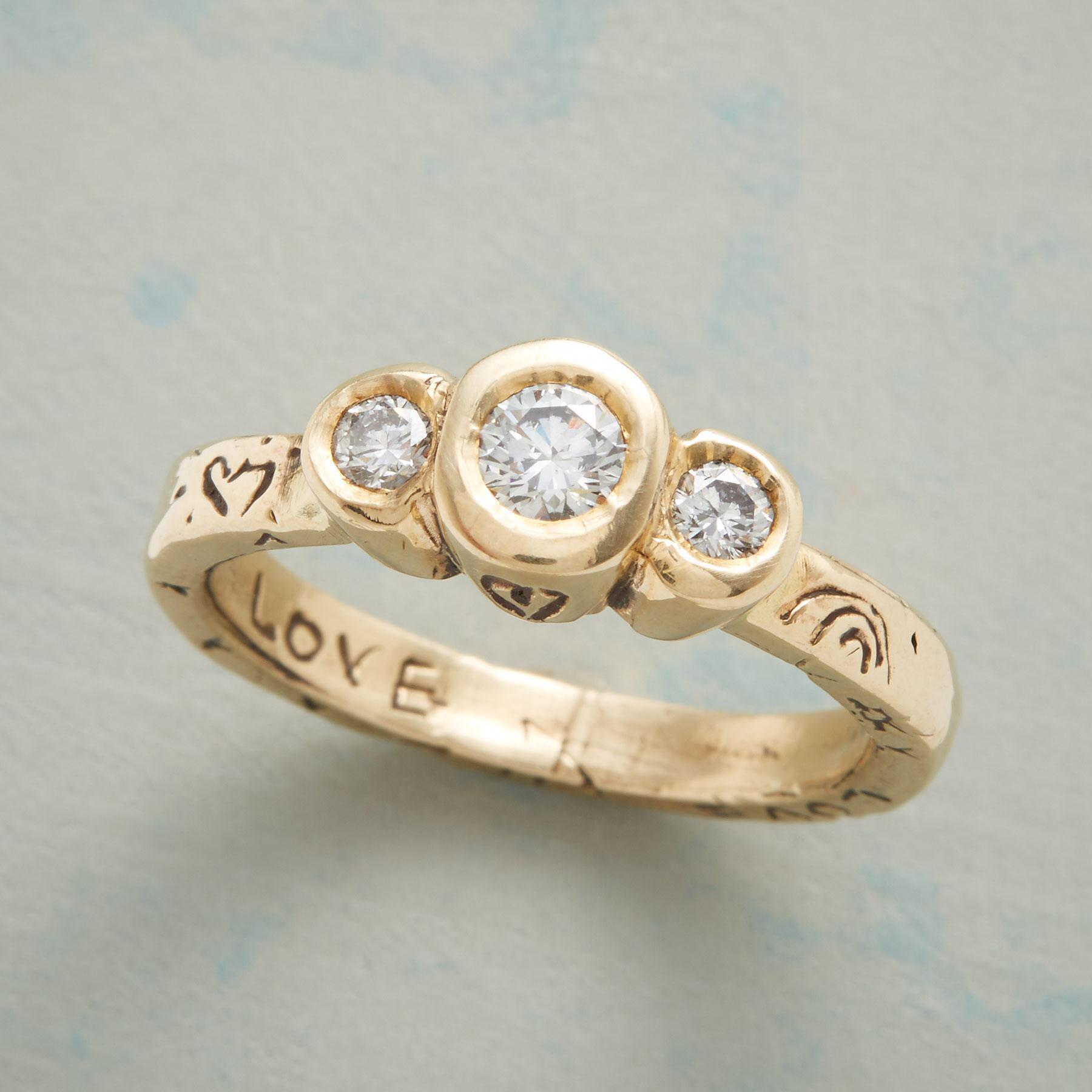 ABUNDANT LOVE DIAMOND TRIO RING: View 1