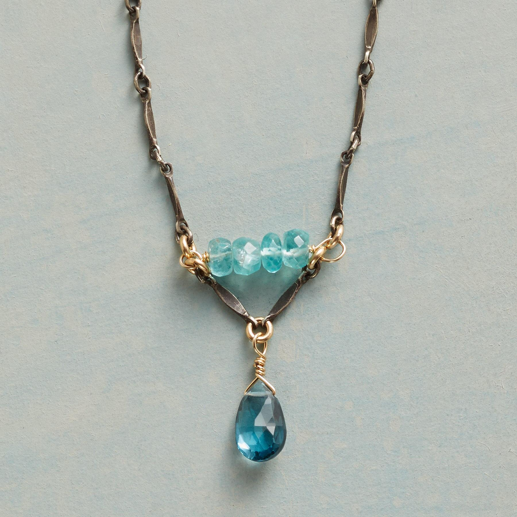 BRILLIANT IN BLUE NECKLACE: View 1