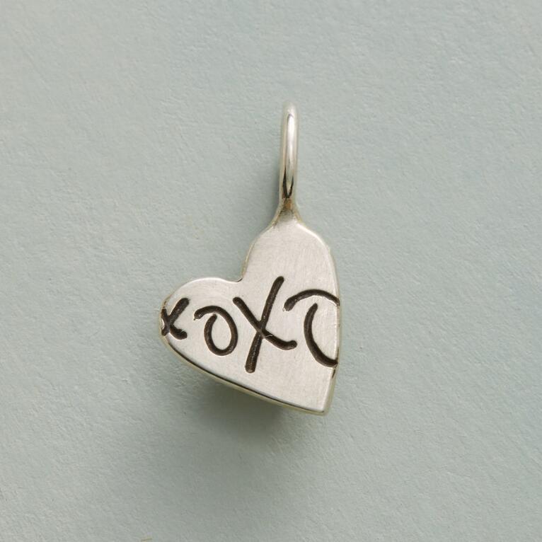 SILVER XOXO HEART CHARM