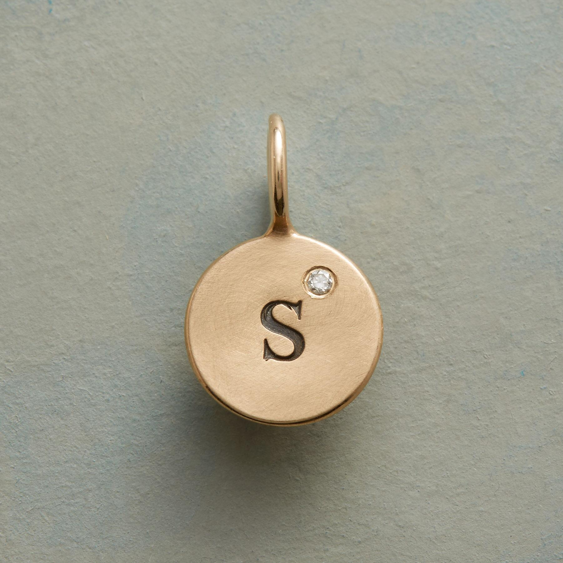 ONE LETTER DIAMOND CHARM: View 1