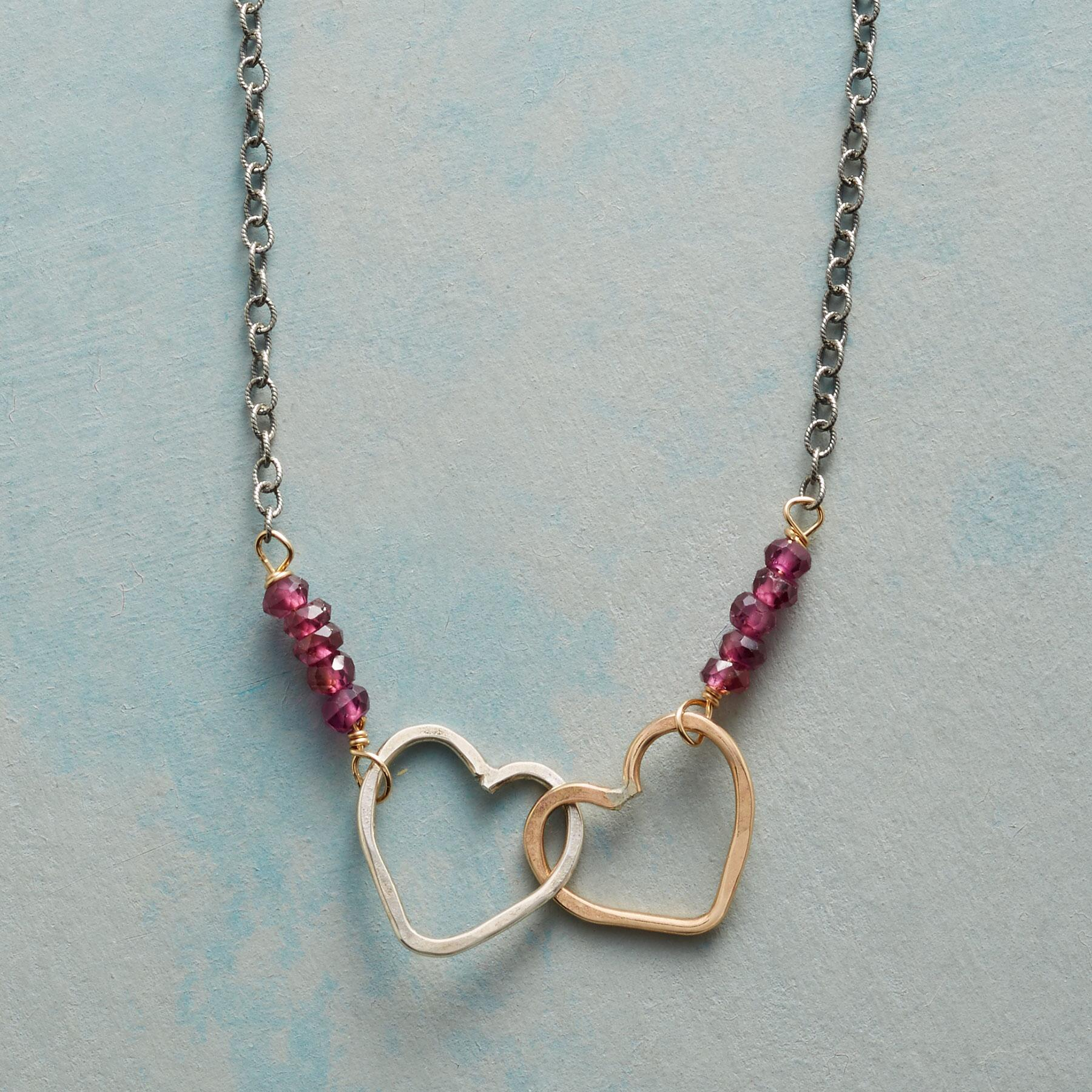 OPEN HEARTS NECKLACE: View 1