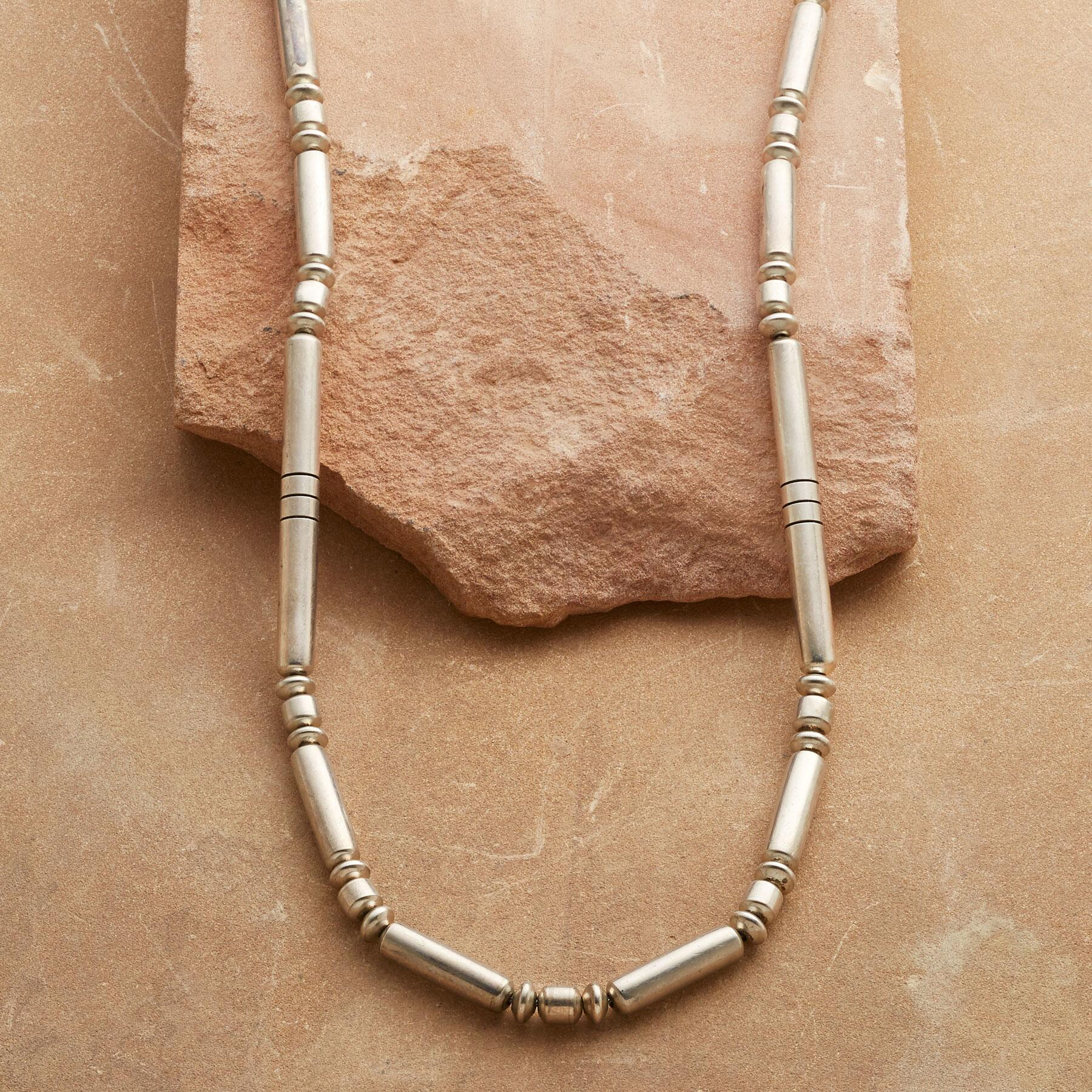1950'S STERLING BEAD NECKLACE: View 1
