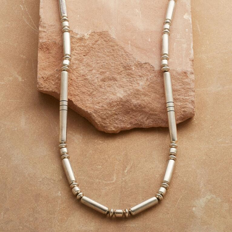 1950'S STERLING BEAD NECKLACE