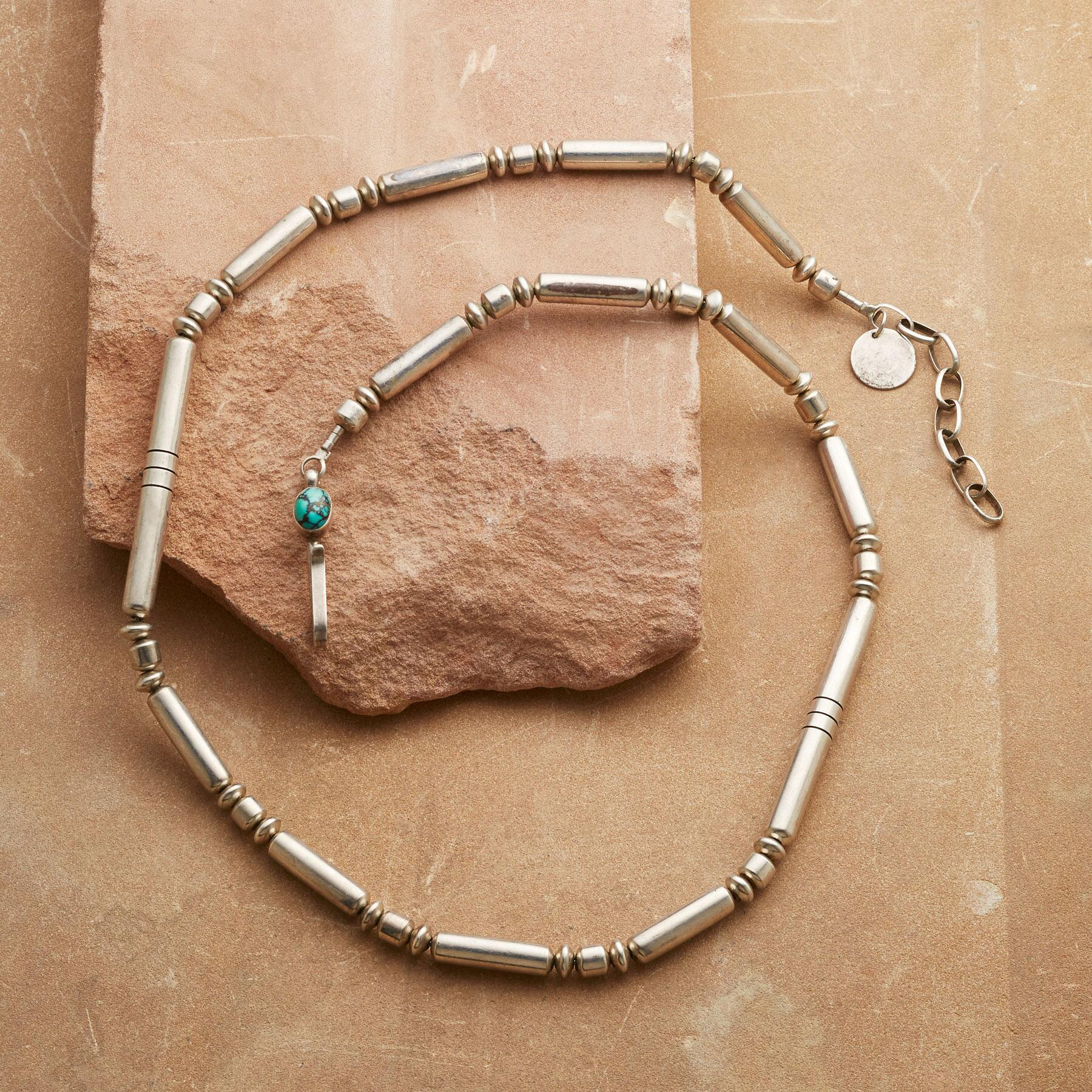 1950'S STERLING BEAD NECKLACE: View 2