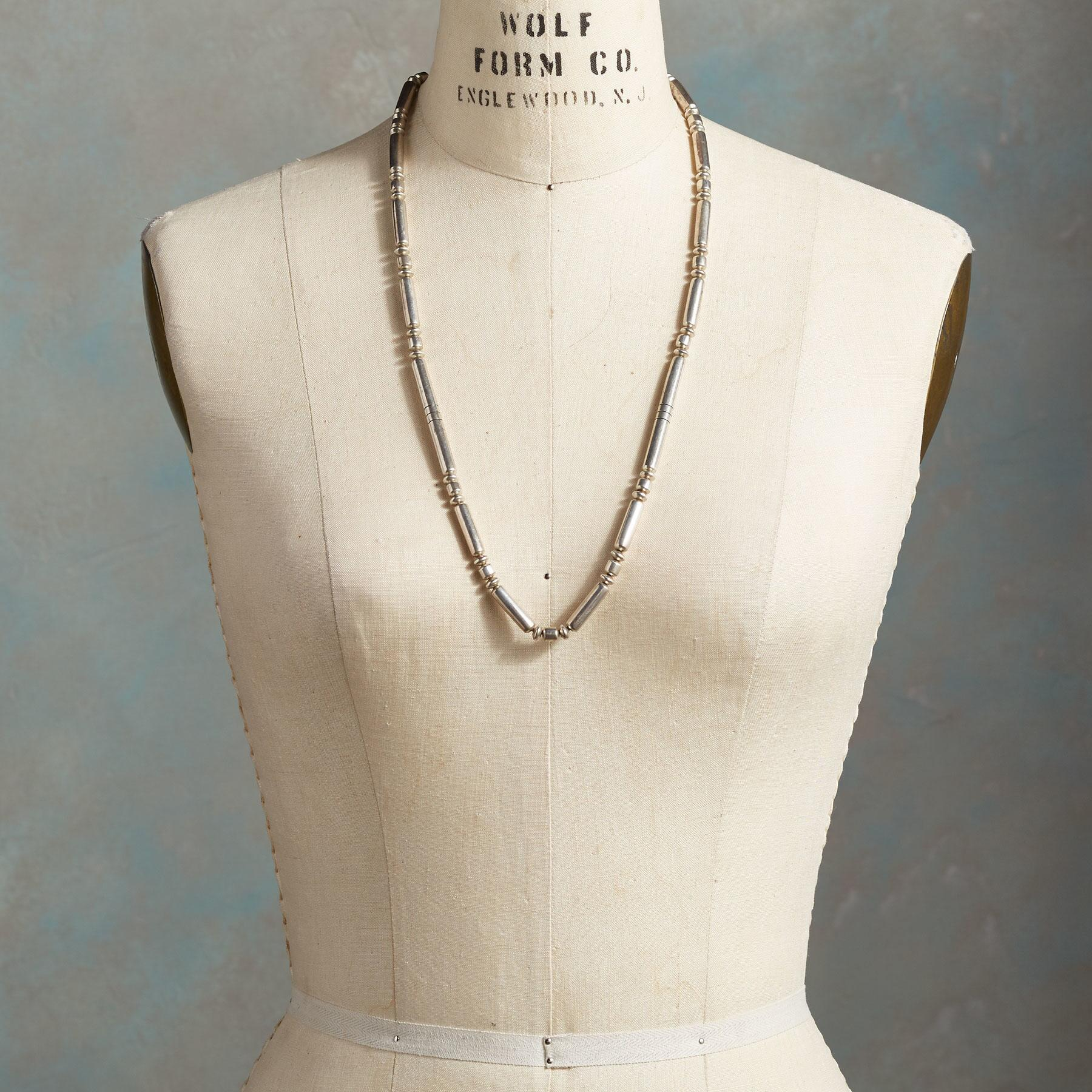 1950'S STERLING BEAD NECKLACE: View 3