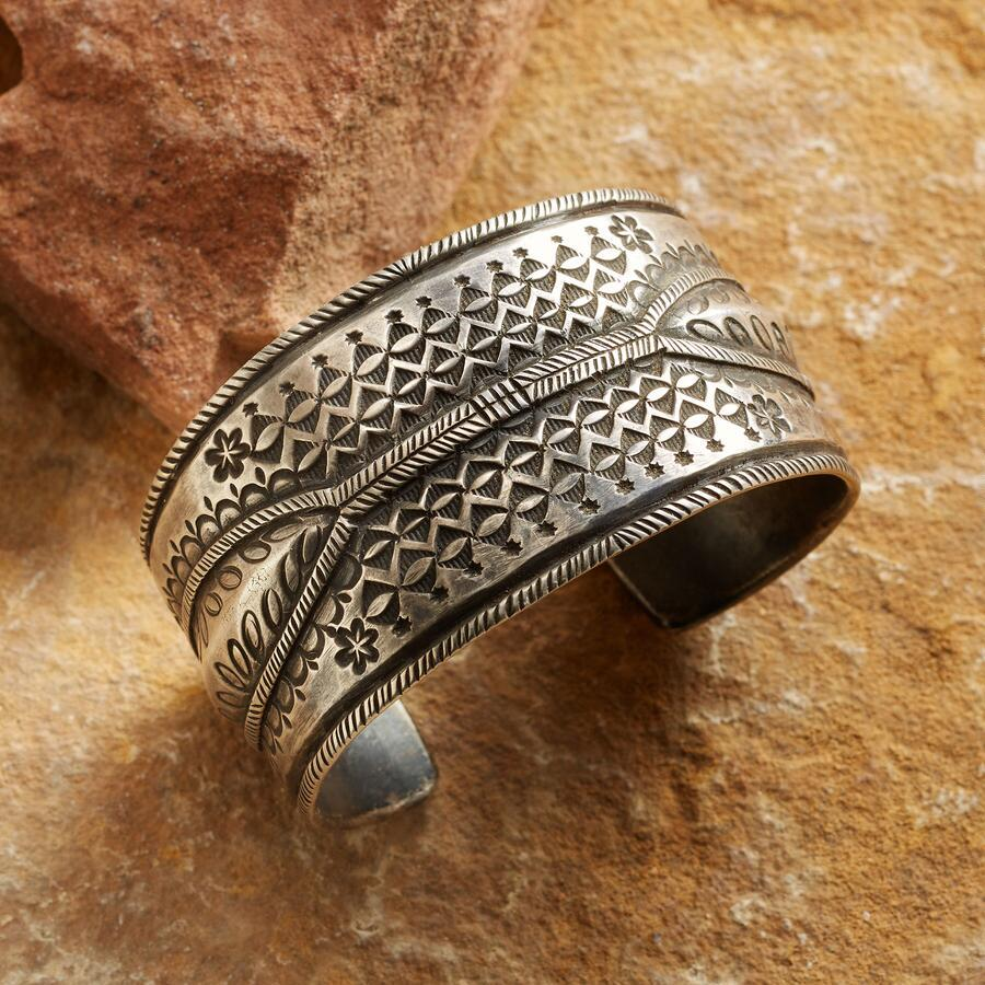 STAMPED MOROCCAN CUFF