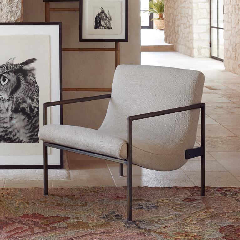 GRIFFITH LINEN CLUB CHAIR