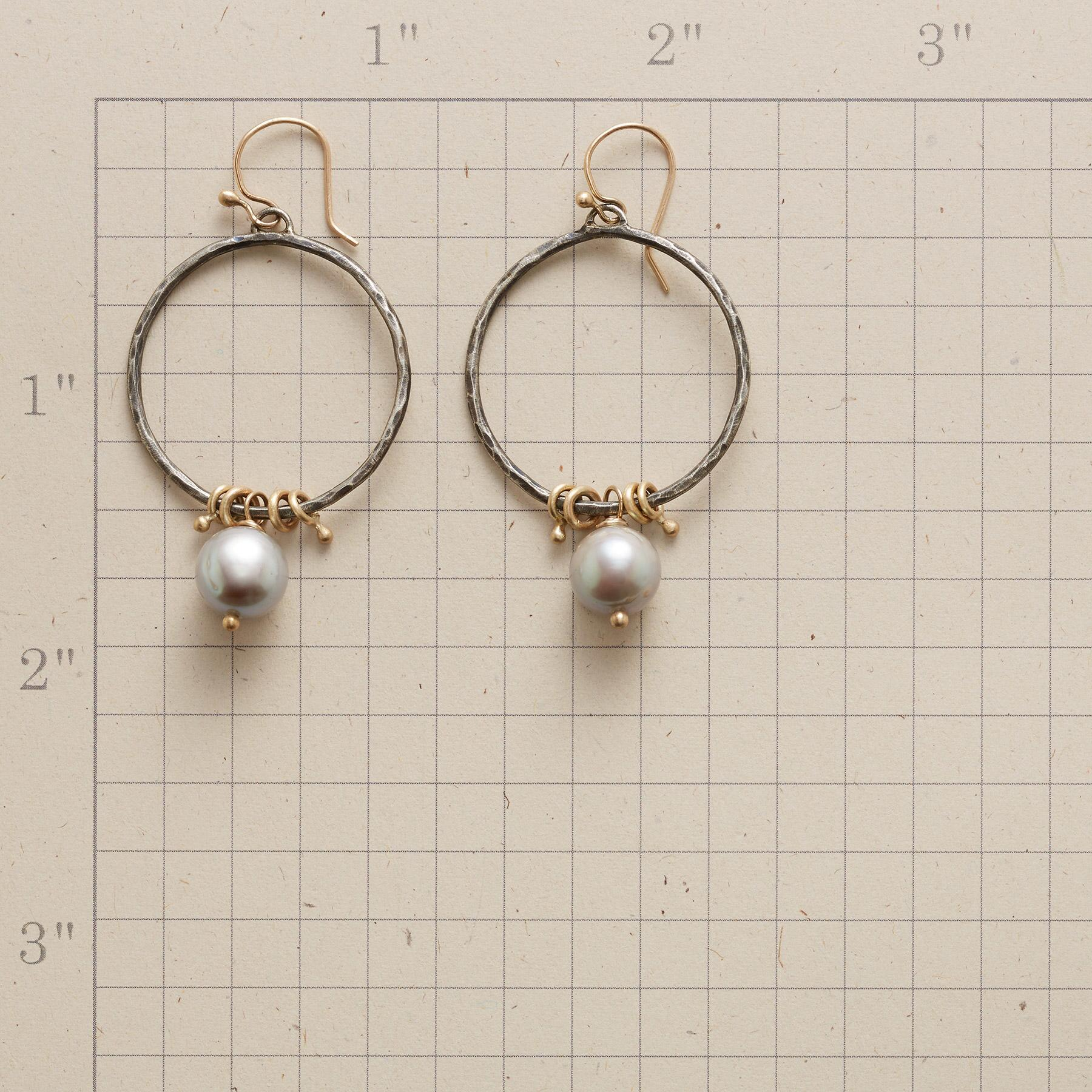 PUNCTUATED PEARL HOOP EARRINGS: View 2