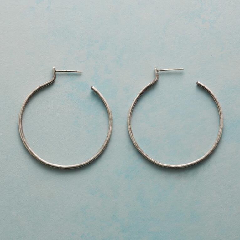 RUSTICO STERLING HOOP EARRINGS
